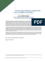 Note de la Banque de France sur la dette étudiante américaine