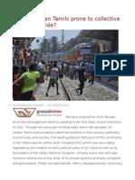 Are Sri Lankan Tamils Prone to Collective Political Suicide