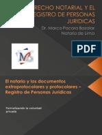 El Derecho Notarial y El Registro de Personas