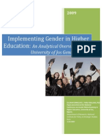Gender Mainstreaming in Higher Education UNIJOS-libre