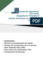 Presupuesto de Capital Uni Finanzas II