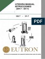 Embutidora Manual SV7 SH7 Eutron