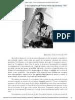 ALBERT CAMUS - Discurso de Aceptación Del Premio Nobel de Literatura, 1957