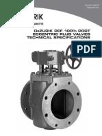 Dezurik 100 Port Eccentric Plug Valves Pef Technical 12-60-1b