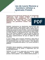 Defensores de Laura Moreno y Jessy Quintero refutan a magistrado Pretelt
