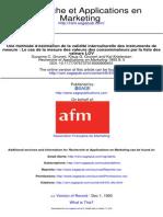 Recherche Et Applications en Marketing 1993 Grunert 5 28