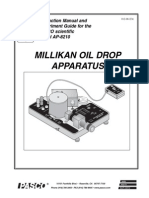 Millikans Oil Drop Manual (AP-8210)