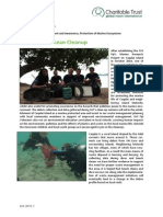 GVI Fiji Achievement Report February 2015 - Caqalai Ocean Clean Up (Dive Against Debris, PADI AWARE)