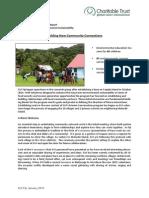 GVI Fiji Achievement Report January 2015- Creating New Community Connections