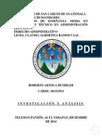 Tarea Roberto Artola Humbler Derecho Administrativo
