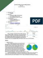 google analytics project