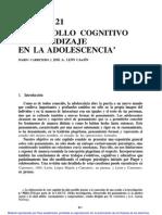 8 Desarrollo Cognitivo y Aprendizaje en La Adolescencia