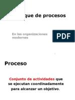 Enfoque de los procesos en las organizaciones modernas
