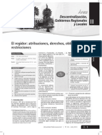 El Regidor - Atribuciones, Derechos, Obligaciones y Restricciones