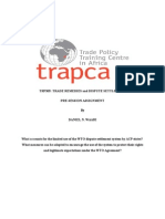 Limited Use of Dispute Settlement in WTO by ACP