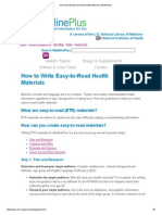 How to Write Easy-To-Read Health Materials_ MedlinePlus