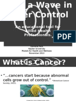make a wave in cancer control