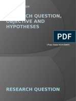 Elective Study - Research Questions, Tujuan Dan Hipotesis