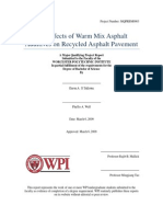 The Effects of Warm Mix Asphalt Additives on Recycled Asphalt Pavement