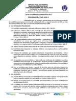 Edital - Vestibular UFU 2015-2