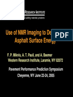 Use of NMR Imaging to Determine Asphalt Surface Energy