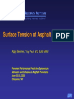 Surface Tension of Asphalt Using AFM