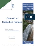 Control de calidad en fuentes ASESPA