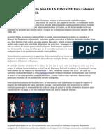 Cuentos Y Fabulas De Jean De LA FONTAINE Para Colorear, Fabula EL LEON Y EL