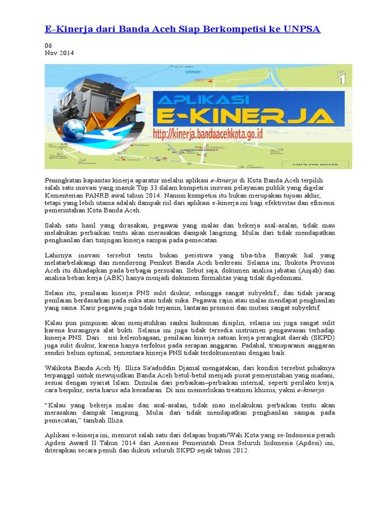 E Kinerja Dari Banda Aceh Siap Berkompetisi Ke Unpsa