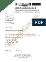 Solution Physics Set q 2014