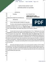 Genmark Automation, Inc. v. Innovative Robotics Systems, Inc. - Document No. 7