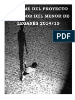 Informe Proyecto Defensor del Menor de Leganés 2015