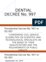 Presidential Decree No 997