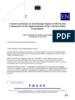 Council EU Concluzii RS 2010