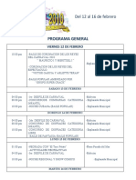 Programa General del Carnaval