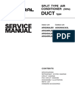 General SPLIT TYPE AIR CONDITIONER Service Manual