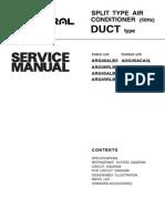 General SPLIT TYPE AIR CONDITIONER Service Manual