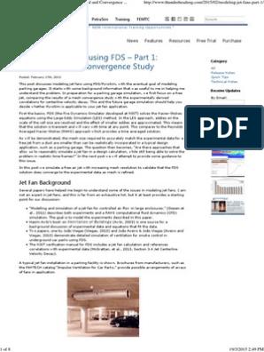 Modeling Jet Fans Using FDS - Part 1 | Navier–Stokes