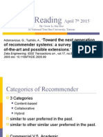 Paper Reading April 7th 2015