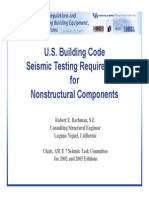 Seismic Consideration for Non Structural Components