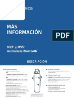 Manual de Instrucciones Auricular Bluetooth Plantronics M55