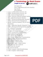 Computer Terminology for Bank Exams