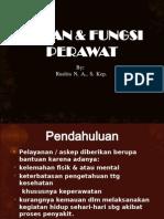 PERAN & FUNGSI PERAWAT