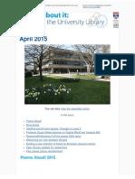 Library Newsletter April 2015