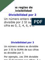 Las Reglas de Divisibilidad