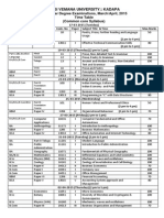 Time Table - 2015 (First Year)