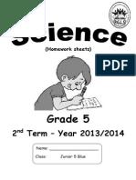 Science Primary 5 Second Term 2015 Worksheetمراجعة نهائية علوم لغات الصف الخامس الابتدائي الترم الثاني