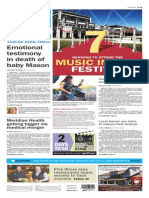 Asbury Park Press front page Wednesday, April 8 2015