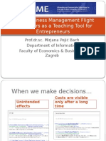Using Business Management Flight Simulatiors as a Teaching Tool for Entrepreneurs