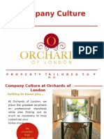Company Culture at Orchards of London